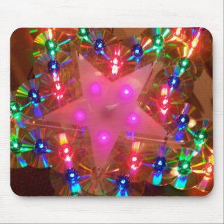 Disco Lights Star Mouse Mat