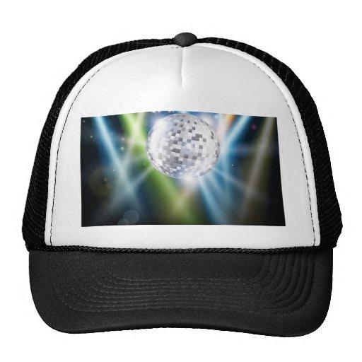 Disco mirror ball background mesh hat