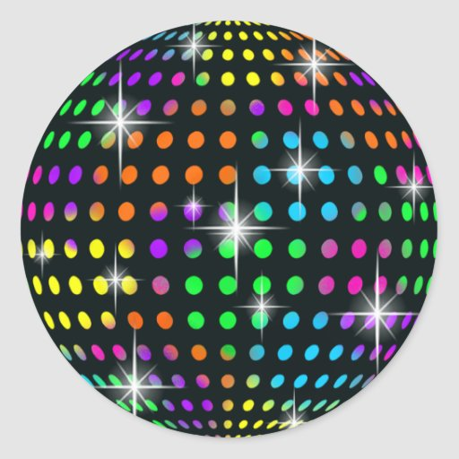 'Disco Mirror Ball Stickers