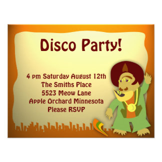 Disco Monster Groove Party Invite