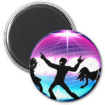 Disco Nightclub 6 Cm Round Magnet
