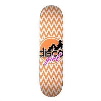 Disco; Orange and White Chevron Skateboards