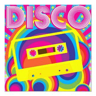 Disco Party 13 Cm X 13 Cm Square Invitation Card