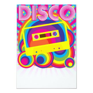 Disco Party 13 Cm X 18 Cm Invitation Card