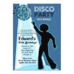 "Disco Party Birthday Invitations 5"" X 7"" Invitation Card"