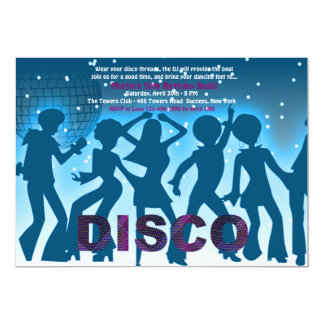 "Disco Party Invitation 5"" X 7"" Invitation Card"