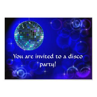 """Disco party invitation 5"""" x 7"""" invitation card"""