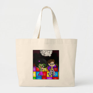 Disco party large tote bag
