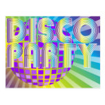 Disco Party Post Card