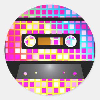 Disco Party Round Sticker