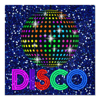 DISCO Party - SRF 13 Cm X 13 Cm Square Invitation Card