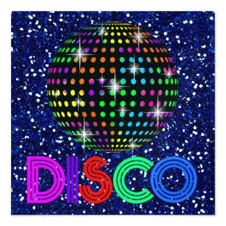 DISCO Party - SRF 13 Cm X 13 Cm Square Invitation Card