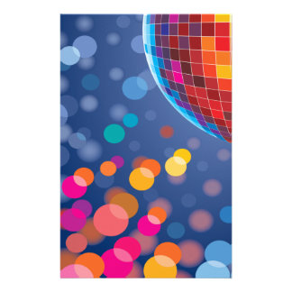 Disco Party Time Rainbow Lights Stationery