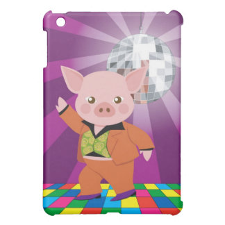 disco pig on the dance floor iPad mini covers