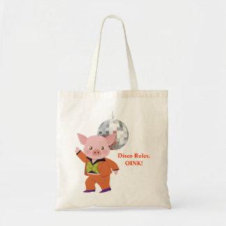 Disco pig tote bag