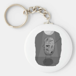 Disco Potato Basic Round Button Key Ring