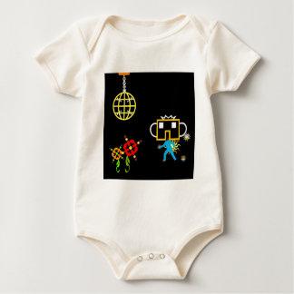 Disco Robo Baby Creeper