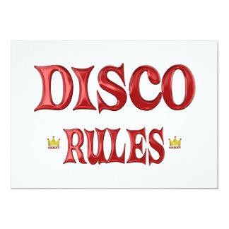 Disco Rules 13 Cm X 18 Cm Invitation Card