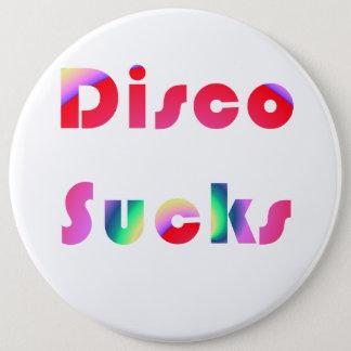 Disco Sucks 6 Cm Round Badge
