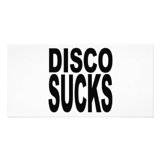Disco Sucks Customised Photo Card