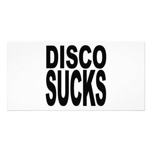Disco Sucks Personalized Photo Card
