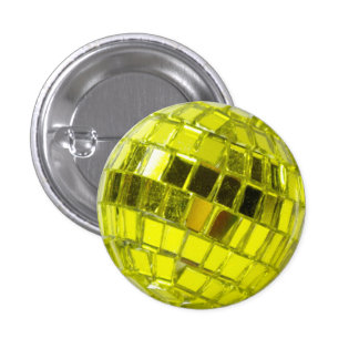 Disco swipes in - Minis Swell with Facets Green An 3 Cm Round Badge