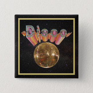 Disco the Night Away 15 Cm Square Badge