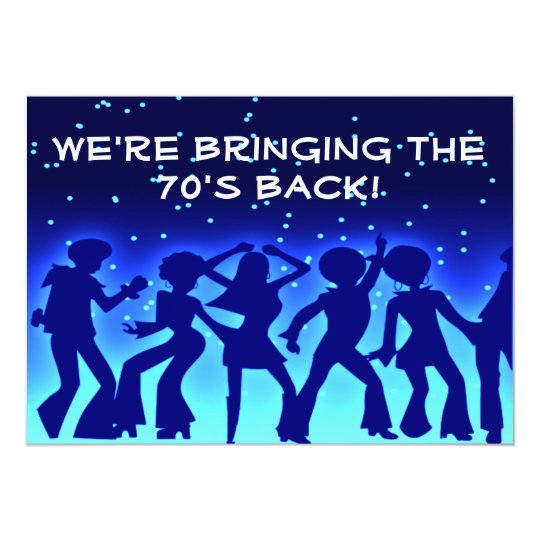 Disco Theme 70s Party Invitations Zazzlecouk