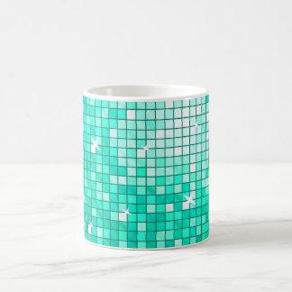 Disco Tiles Aqua mug