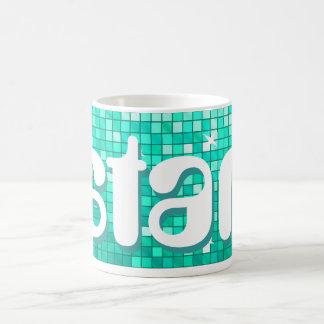 Disco Tiles Aqua 'star' mug