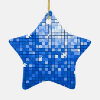 Disco Tiles Dark Blue ornament star