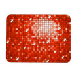 Disco Tiles Dark Red premium magnet