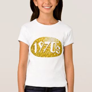 "Disco Tiles ""Gold"" '1970s' girls fitted T-Shirt"