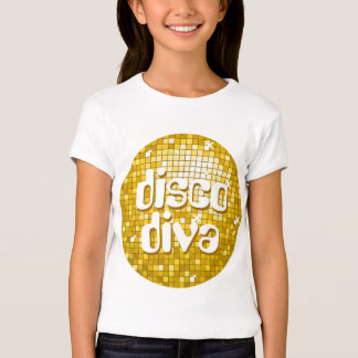 "Disco Tiles ""Gold"" 'disco diva' girls fitted T-Shirt"