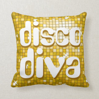 """Disco Tiles """"Gold"""" 'disco diva' throw pillow"""
