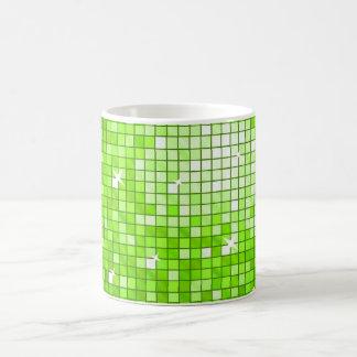 Disco Tiles Green mug