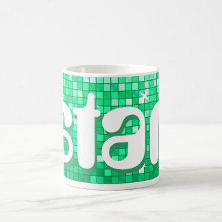 Disco Tiles Jade 'star' mug