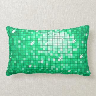 Disco Tiles Jade throw pillow