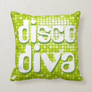 Disco Tiles Lime 'disco diva' throw pillow