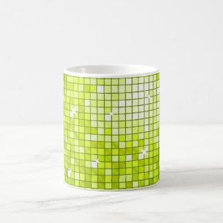 Disco Tiles Lime mug
