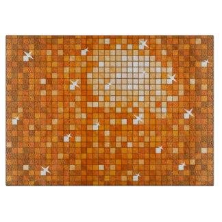 Disco Tiles Orange cutting board