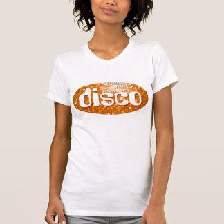 Disco Tiles Orange 'disco'  ladies petite white T-Shirt