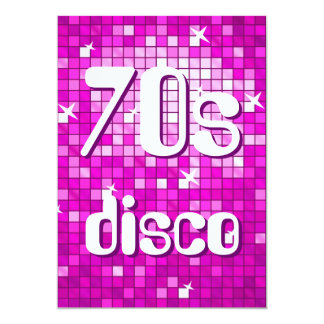Disco Tiles Pink 70s Disco invitation amelia text