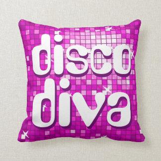 Disco Tiles Pink 'disco diva' throw pillow