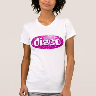 Disco Tiles Pink 'disco'  ladies petite white T-Shirt