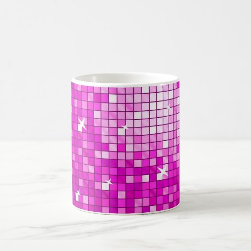 Disco Tiles Pink mug