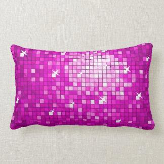 Disco Tiles Pink throw pillow