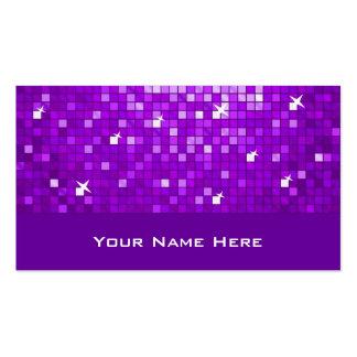 Disco Tiles Purple business card