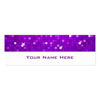 Disco Tiles Purple business card skinny white