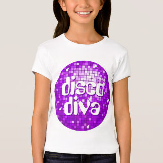 Disco Tiles Purple 'disco diva' girls fitted Shirts